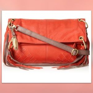Lucky Brand | Diego Foldover Leather Crossbody Red